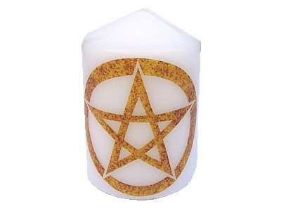 10cm Pentacle Element Candle Air